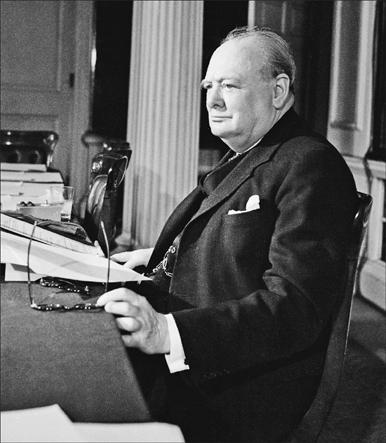 British Prime Minister: Winston Leonard Spencer Churchill. (IWM, London, photographic archive, H 41846)