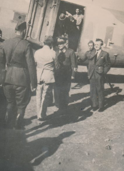 Marshall Tito, Dr. Ivan Ribar, Kosanovic at the airfield, Vis, August 1944. (Military Museum, Belgrade, Collection of photographs, 14347