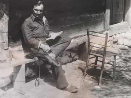 Major Archibald 'Archie' Jack wearing traditional Serbian peasant footwear. (IWM, London, photographic archive, HU 88447)
