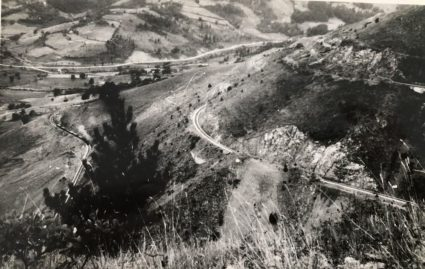 A picture taken by Major Archie Jack of a successful attack on the Mokra Gora railway line that stopped supplies reaching Sarajevo from Belgrade. (IWM, London, Documents archive 12697)