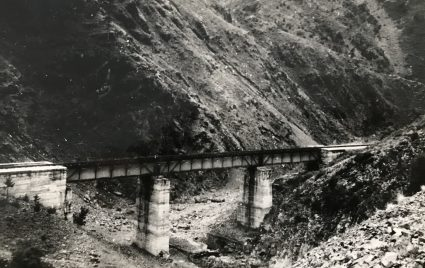 A picture taken by Major Archie Jack of a bridge near Mokra Gora before its destruction in October 1943. (IWM, London, Documents archive 12697)