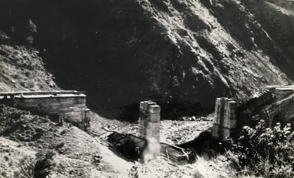 The bridge near Mokra Gora after it had been blown by Major Archie Jack and JVuO engineers. The BBC attributed the destruction of 5 bridges and tunnels in this area to the Partisans. (IWM, London, photographic archive, Documents archive 12697)