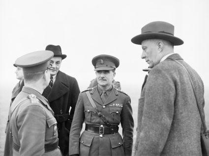 Hugh Dalton (right) Minister of Economic Warfare, and Colonel Colin Gubbins, Chief of the S.O.E. who directed operations across the world. (IWM, London, photographic archive, H 8185)6)