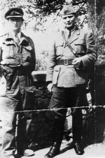 Капетан Вилијем Дикин и Тито (непознат извор)