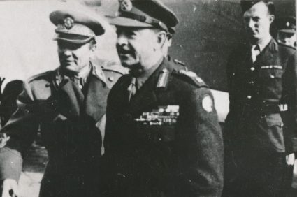 Marshall Tito and Field Marshall Harold Alexander at the airfield in Zemun, 1945. (Military Museum, Belgrade, Collection of photographs, 22992)