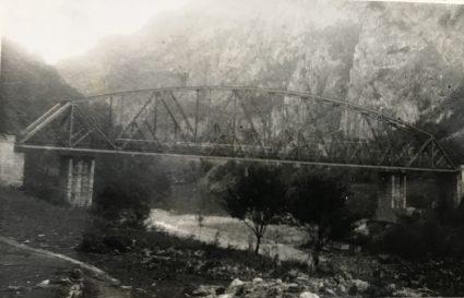 The Lim railway bridge prior to its destruction. (IWM, London, Documents archive 12697)
