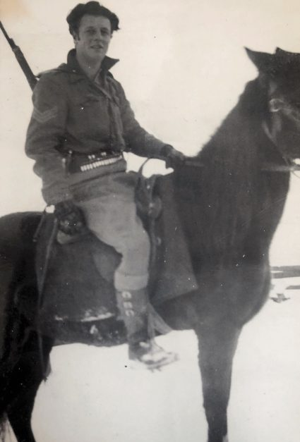 Sergeant McFarlane in the mountains of Serbia. (Personal photographic collection of Mr. Harry Fenney)