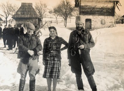 Colonel Bailey with an officer of the JVuO and his wife during the winter of 1943/44. (National Archives, London, Document HS7-202)