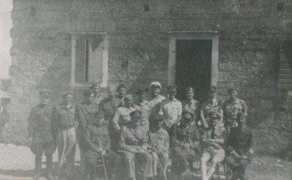 Josip Broz Tito and Savo Orović with members of the Allied Military Missions on Vis, 1944. (Military Museum, Belgrade, Collection of photographs, 8813)