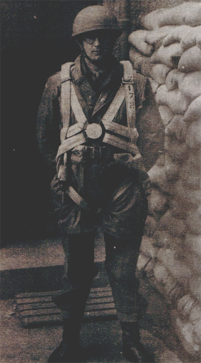 Captain Eric Hargreaves immediately prior to being parachuted into Serbia. His equipment is all standard issue and totally impractical for use in the hills and mountains of Yugoslavia. (National Archives, London, Document HS9-663-6)